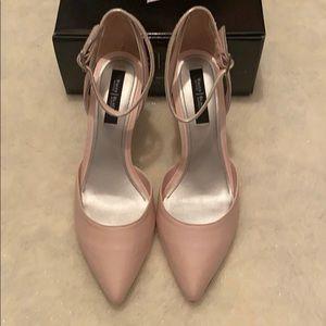 NIB White House Black Market Pink Heels 7.5M.
